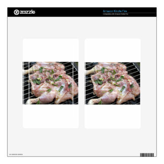 Barbecued chicken on the grill skins for kindle fire