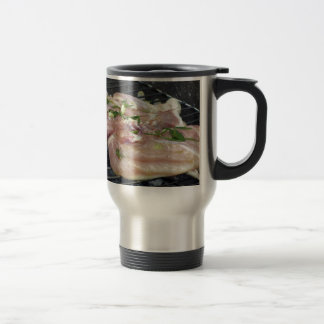 Barbecued chicken on the grill travel mug