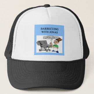 barbecueing with jonas trucker hat