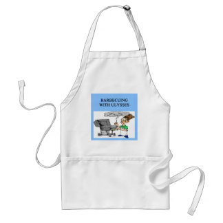barbecueing with ulysses apron