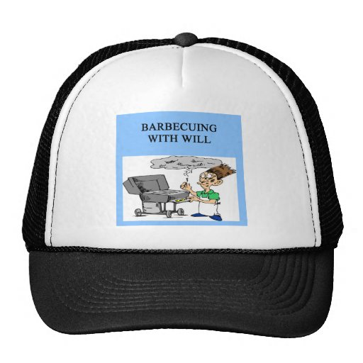 barbecueing with will trucker hat