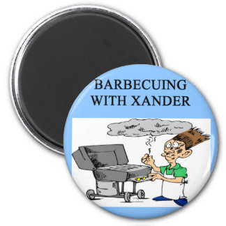 barbecueing with xander fridge magnets