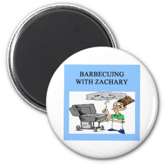 barbecueing with zachary 2 inch round magnet