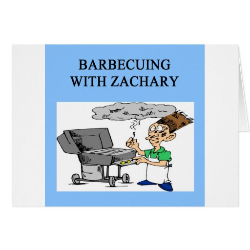 barbecueing with zachary card