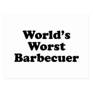 Barbecuer peor del mundo tarjeta postal