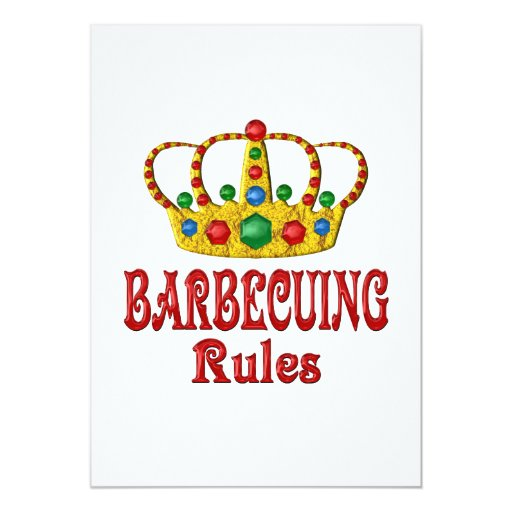 BARBECUING RULES PERSONALIZED INVITE