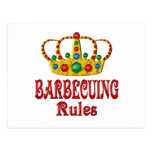 BARBECUING RULES POST CARD