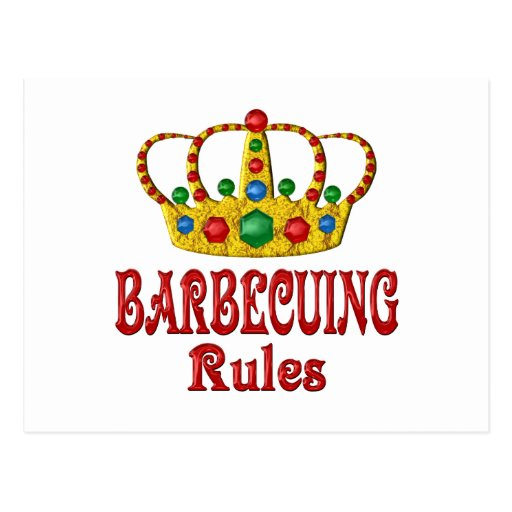 BARBECUING RULES POSTCARD