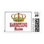 BARBECUING RULES STAMP