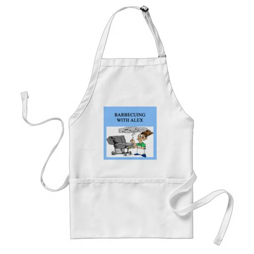 barbecuing with alex adult apron
