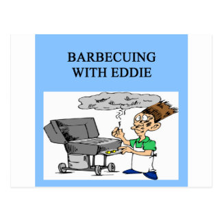 barbecuing with ed postcard