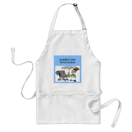 barbecuing with edwin adult apron