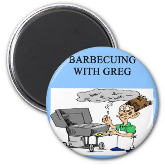 barbecuing with greg magnet