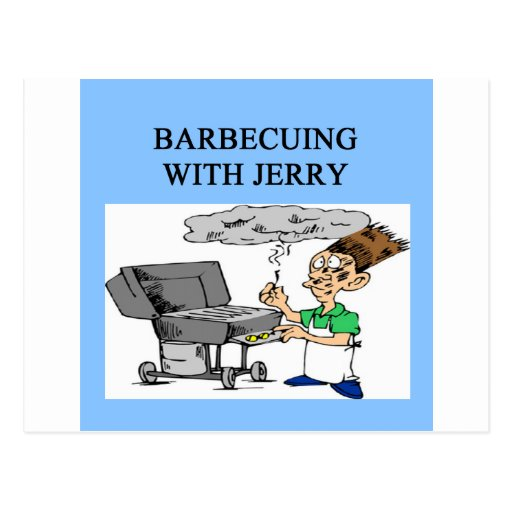 barbecuing with jerry post cards