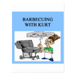 barbecuing with kurt postcard