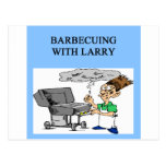 barbecuing with larry post card