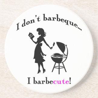 BarbeCUTE! coasters