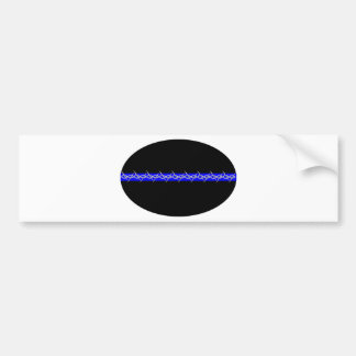 Barbed Blue Line Corrections Car Bumper Sticker