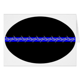 Barbed Blue Line Corrections Cards