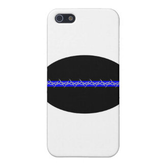 Barbed Blue Line Corrections Cover For iPhone SE/5/5s