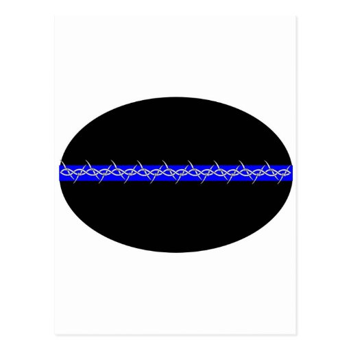 Barbed Blue Line Corrections Postcard