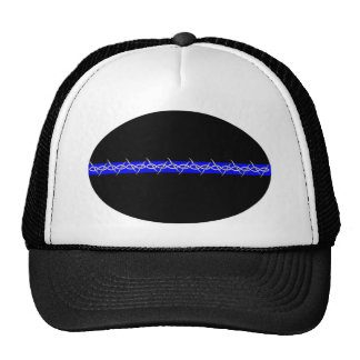 Barbed Blue Line Corrections Trucker Hat