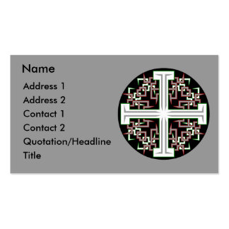 Barbed Cross Business Card