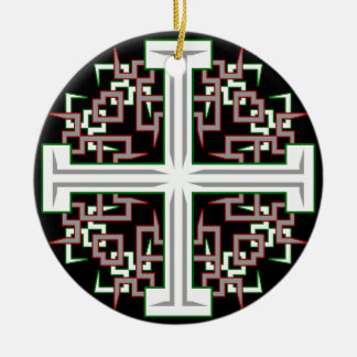 Barbed Cross Ceramic Ornament