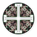 Barbed Cross Classic Round Sticker