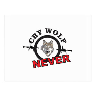 barbed cry wolf no postcard