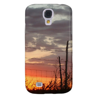 Barbed Fench in the Sunset Samsung S4 Case