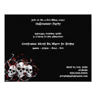 Barbed Skull Custom Party Invitations