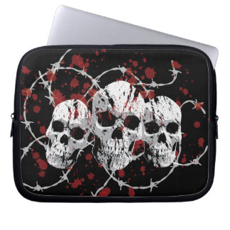Barbed Skull Laptop Sleeve