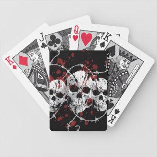 Barbed Skulls Custom Playing Cards