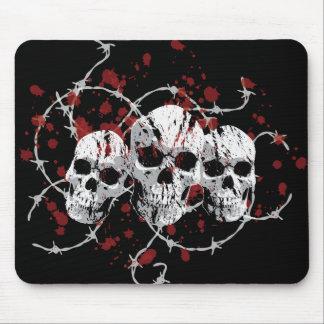 Barbed Skulls Mousepad