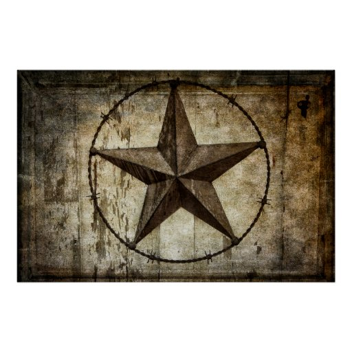 BARBED STAR of TEXAS Print