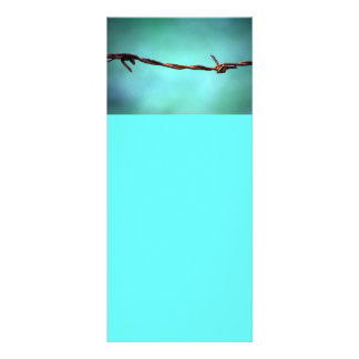 barbed WIRE AGAINST SKY BLUE BACKGROUND RANDOM ABS Rack Card