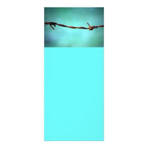 barbed WIRE AGAINST SKY BLUE BACKGROUND RANDOM ABS Rack Card Design