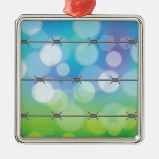 barbed wire background metal ornament