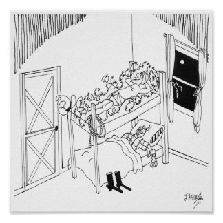 Barbed Wire Cartoon 5103 Poster