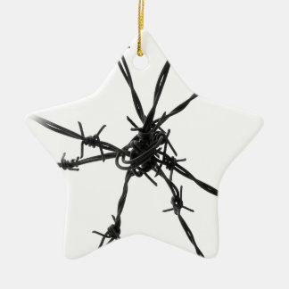 Barbed Wire Christmas Ornament