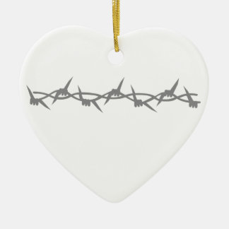 Barbed Wire Christmas Ornaments