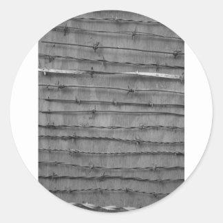 barbed wire classic round sticker