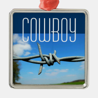 """Barbed-Wire """"Cowboy"""" Ornament"""