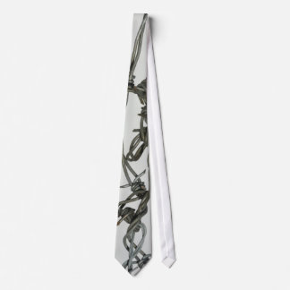 'Barbed Wire' design neck tie. Tie
