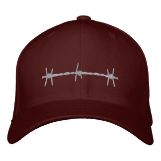 Barbed Wire Embroidered Baseball Hat