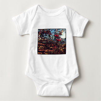 barbed wire fence baby bodysuit