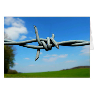 Barbed-Wire Fence Blank Card