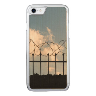 Barbed wire fence carved iPhone 7 case