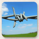 Barbed-Wire Fence Cork Coasters